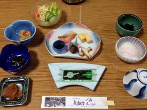 『丸新荘』の朝食