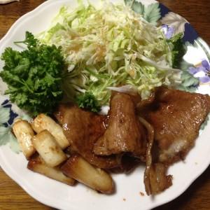 我が家の生姜焼き定食