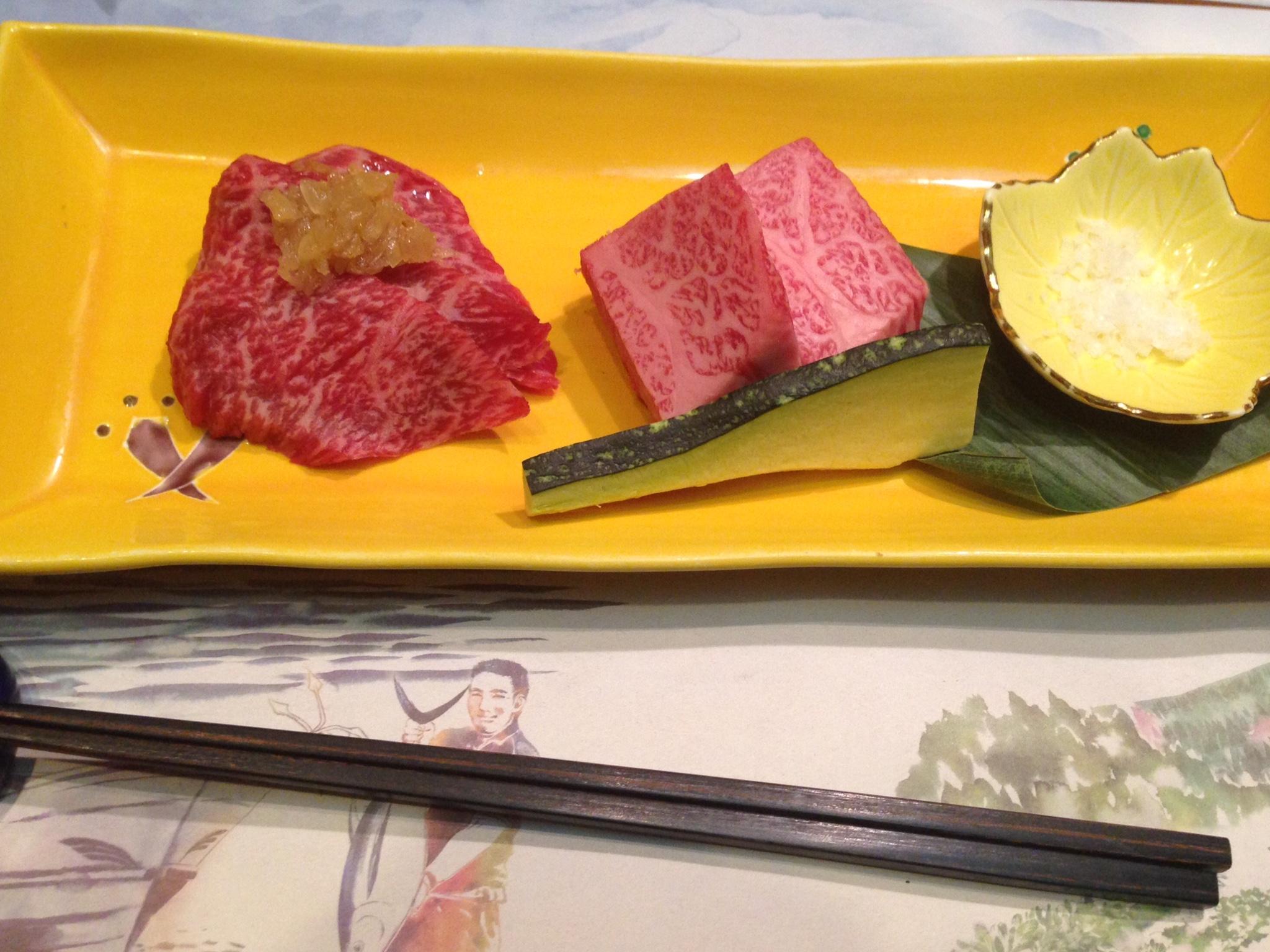 特選宮崎牛の鉄板焼き