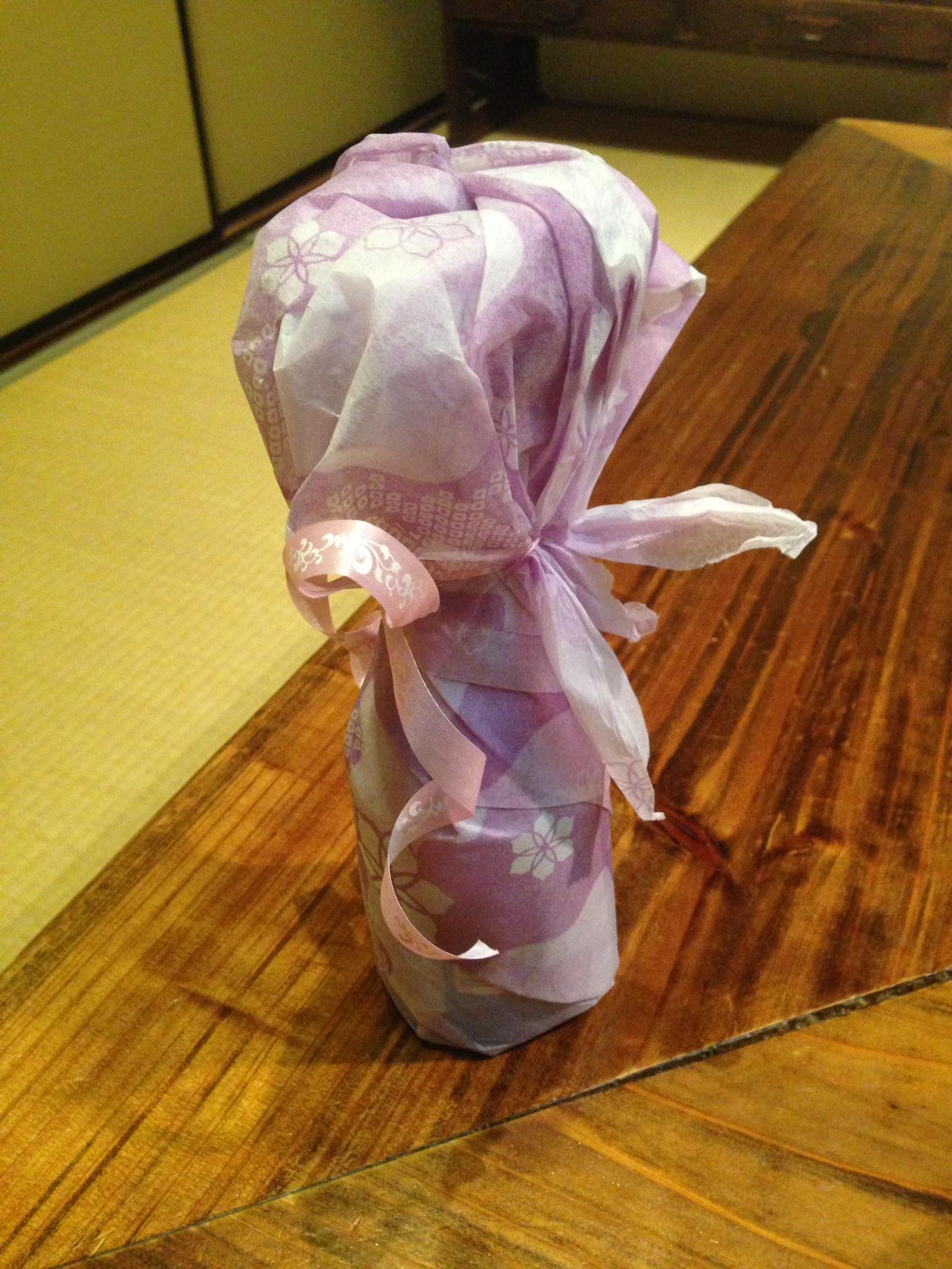 還暦の母へ日本酒のプレゼント
