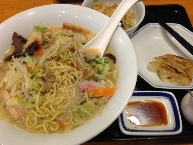 長崎ちゃんぽん+炒飯&餃子セット