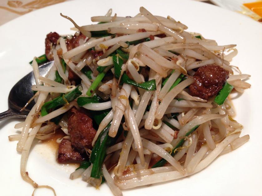 中国料理北京苑のレバニラ