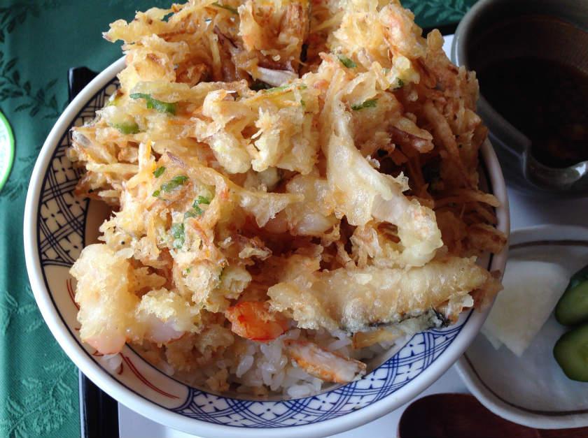 照葉庵の海鮮かき揚げ丼