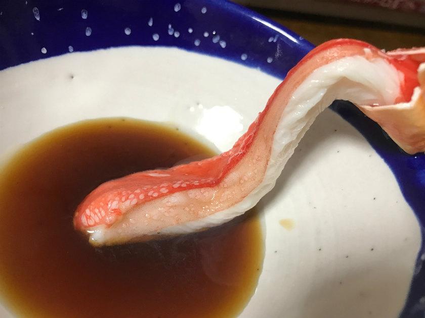 ふわとろ食感贅沢たらば蟹をしゃぶしゃぶで頂きました
