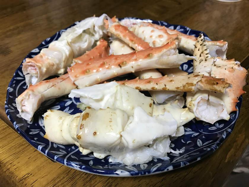 【かにまみれ】『四大蟹セット』のタラバガニを美味しくいただきました
