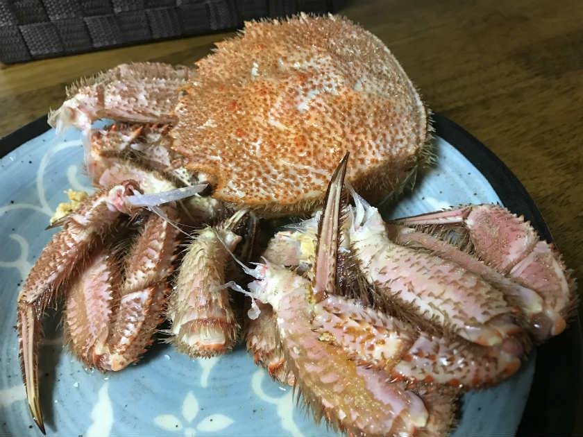 かにまみれ『四大蟹セット』の毛ガニ(調理後)