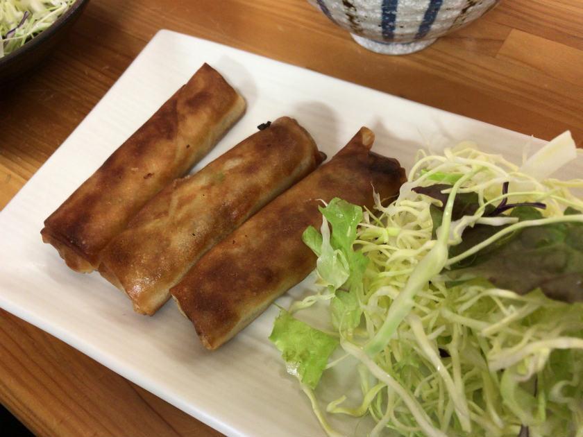 麺処コジマ屋の春巻き