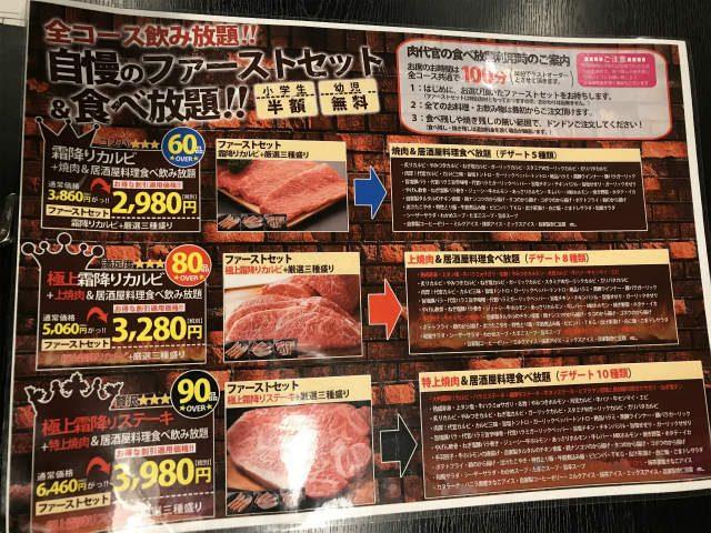 肉代官のメニュー