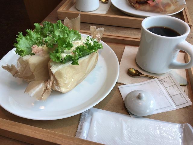 ハムのリエット&ポテトサンドとコーヒーセット