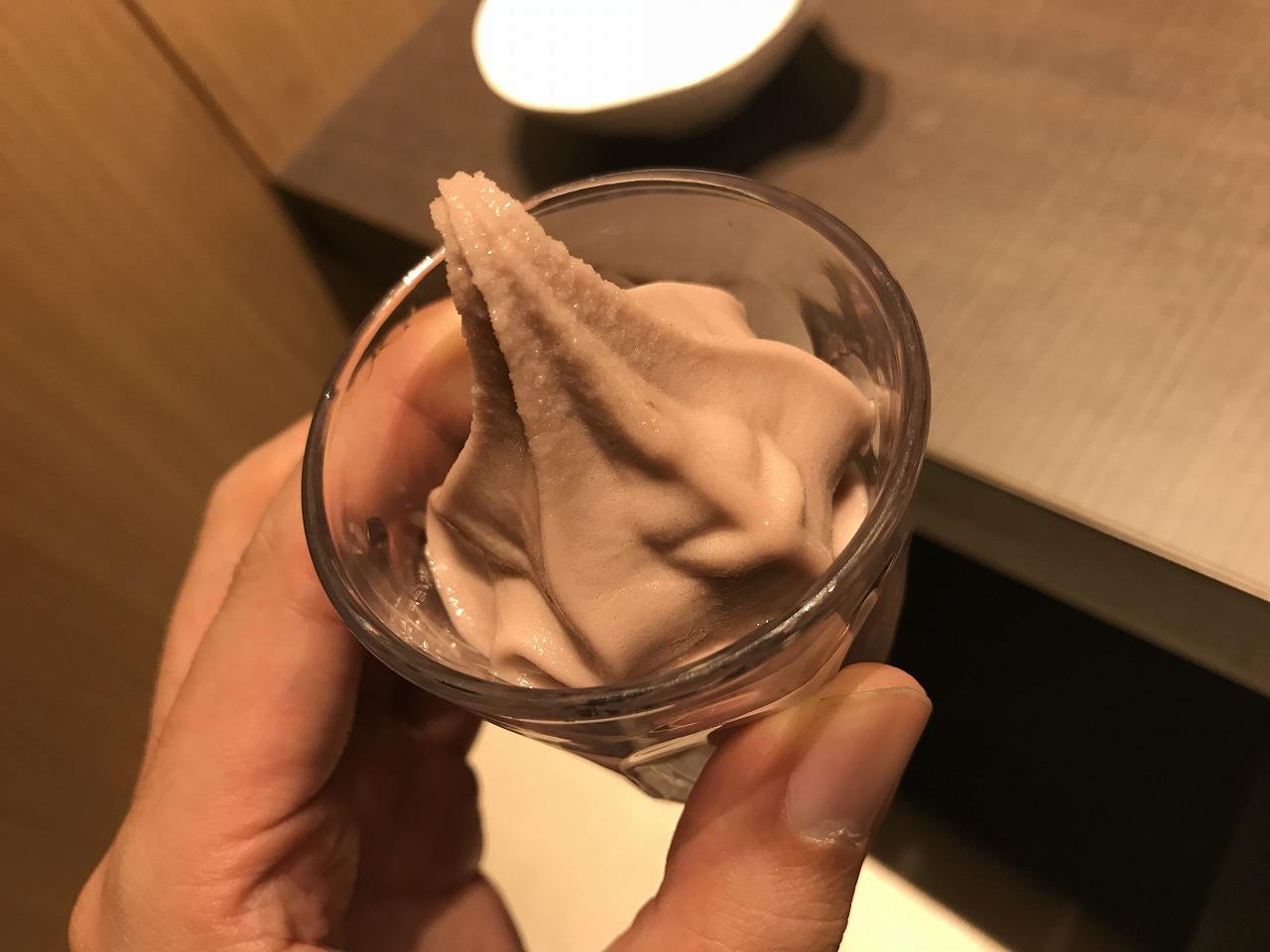 ゆず庵宮崎柳丸店の季節のシャーベット