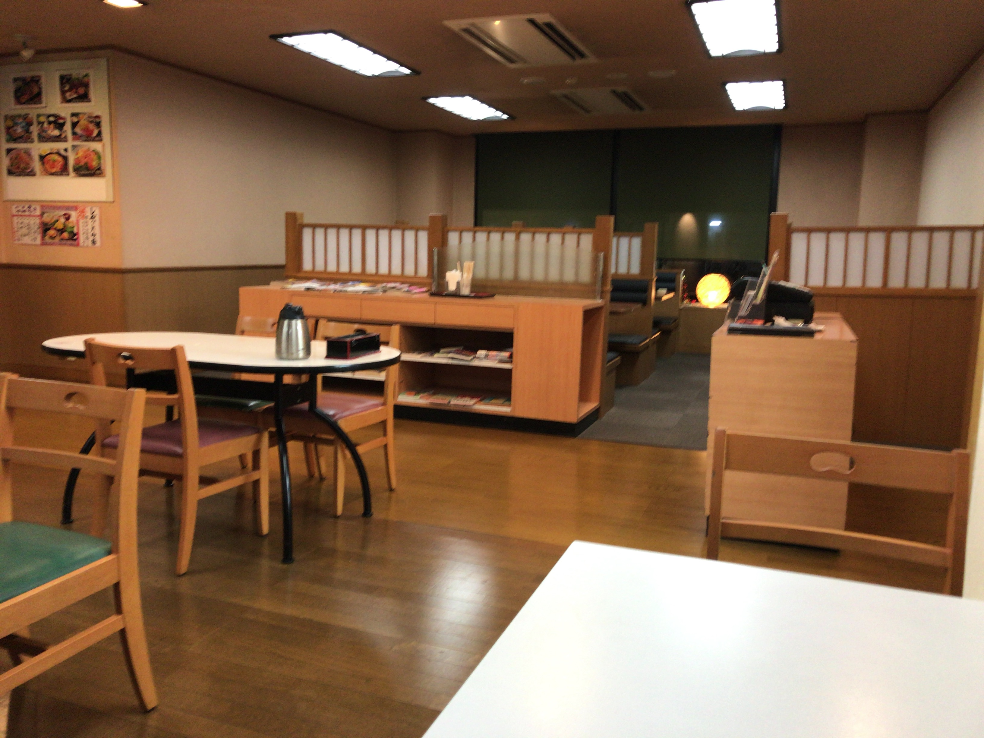 熊本城温泉城の湯のレストランの内観