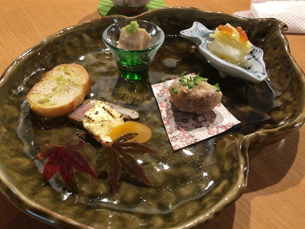 魚食屋れすとらん「びび」コース料理の前菜