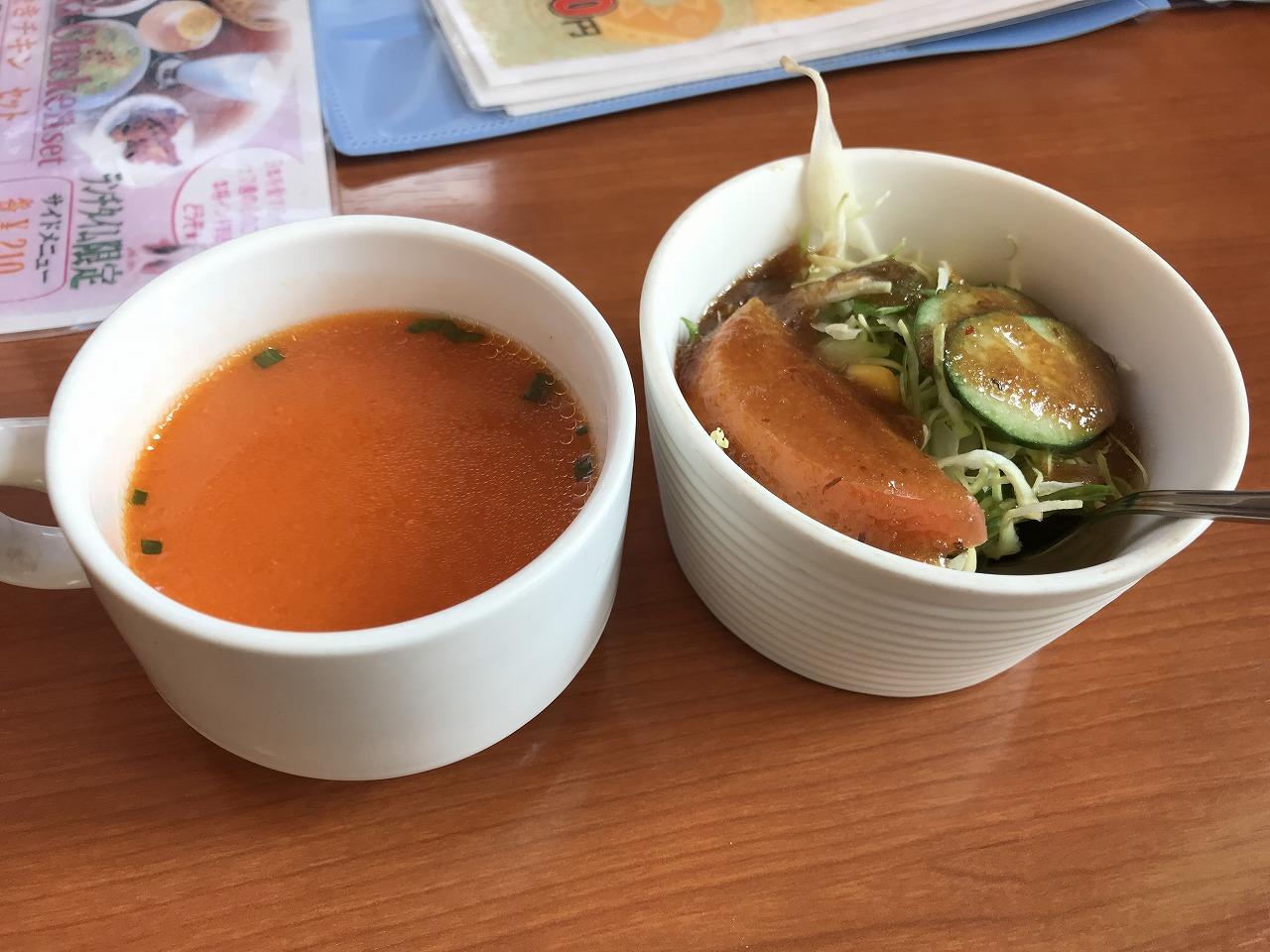 ムーナ佐土原店の前菜とスープ