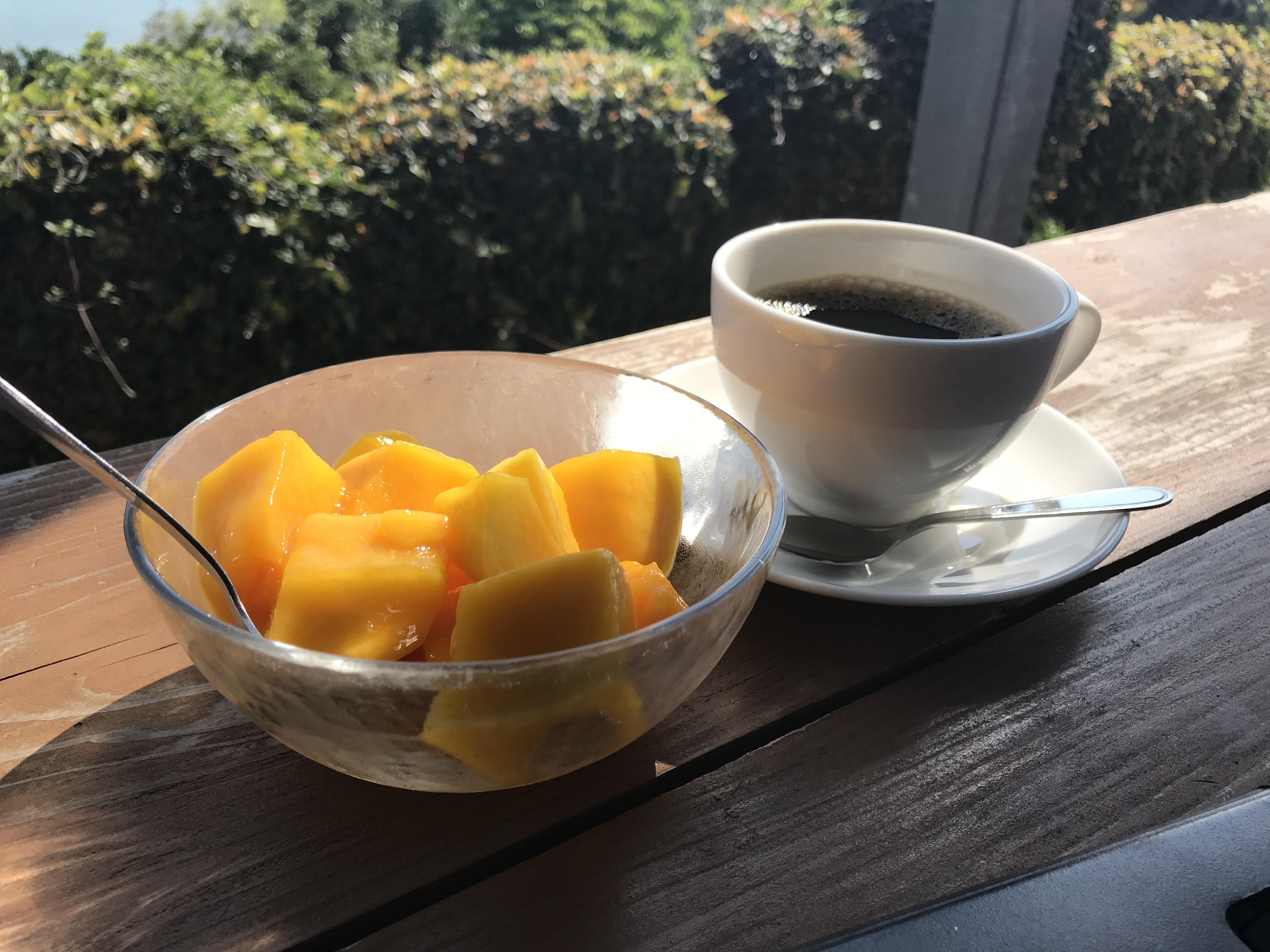 マンゴーとコーヒー
