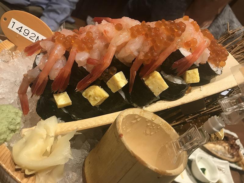遠藤水産(千歳千代田町店)のいくらエビ寿司