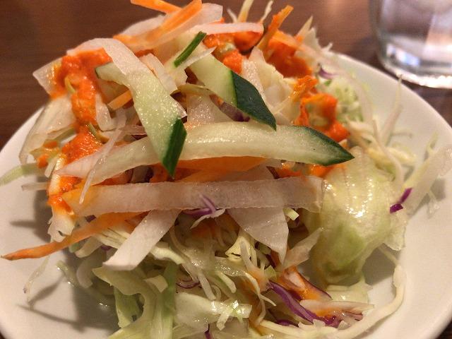 インド本場カレーラマのサラダ