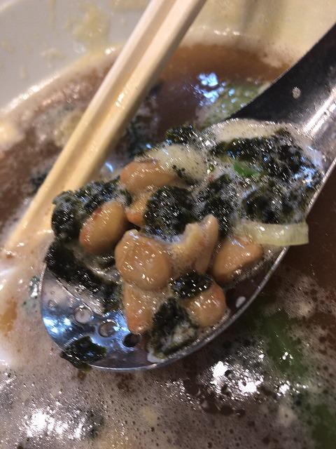 吟醸醤油 東京らぁめんの納豆ラーメンの納豆